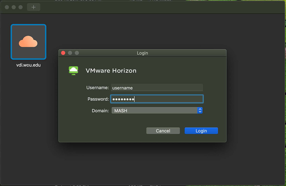 VDI Mac tutorial step 8