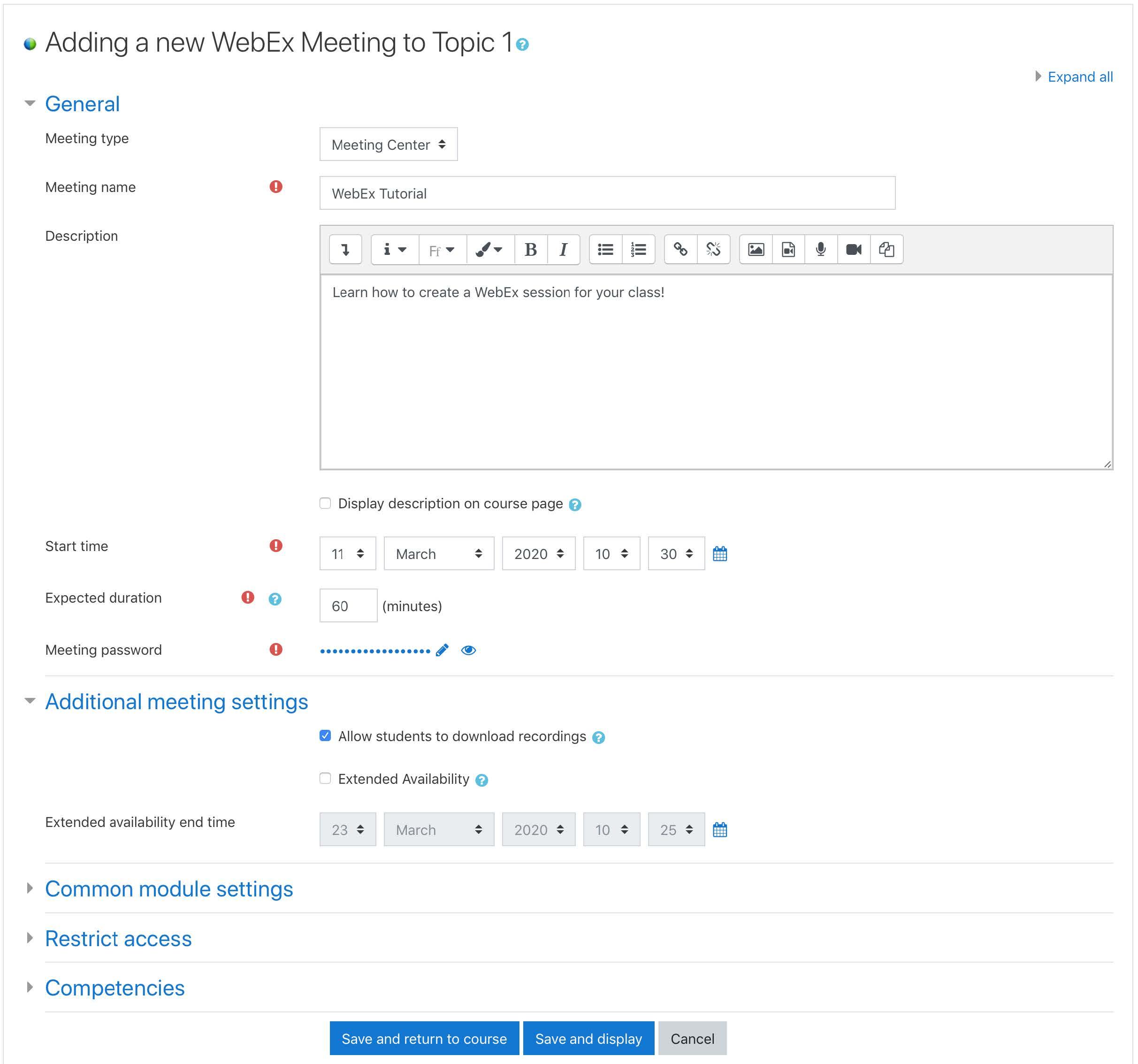 WebEx step 5
