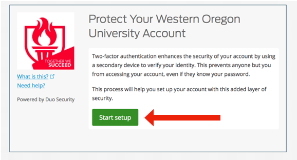 Protect your WOU account screenshot