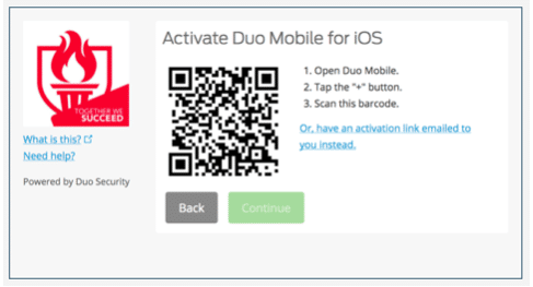 Activate DUO Mobile for iOS - screenshot