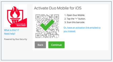 Activate DUO Mobile for iOS completed - screenshot