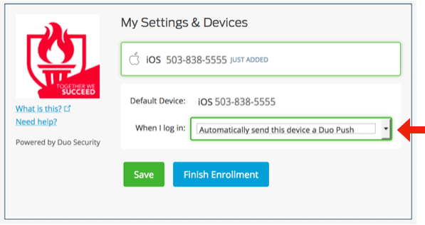 My settings and devices - screenshot