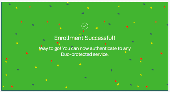 Enrollment Successful! - screenshot