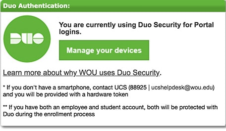 DUO Portal App Manage your devices