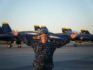 Shane Follett in uniform