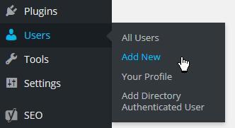 Alternate version users menu