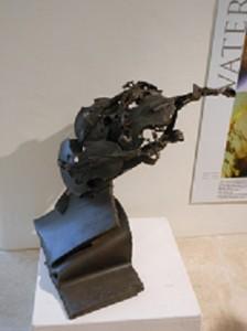 Violins made out of scrap metal!