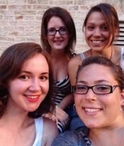 I will miss these ladies. From top left to right: Kris, Sarah. Bottom left to right: Me, Marisa.