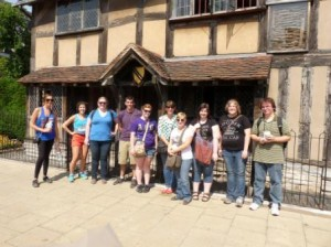 On my first field trip with my Myth, Horror, and Legend class we stopped by Stratford upon Avon to visit Shakespeare's old home.