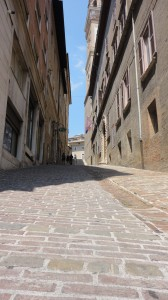 Macerata is very hilly