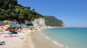 The beach at Sirolo