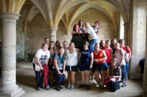 My Harry Potter class in Snape's cauldron and classroom at Lacock Abbey.