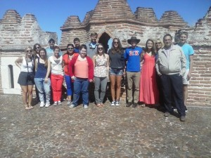 The group at the Castle of Coca