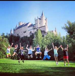 A jump in front of the Alcazar!