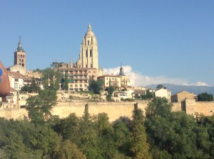 The view of the cathedral from the Alcazar