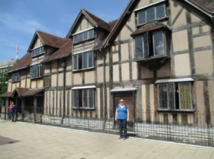 Me in front of Shakespeare home. Hopefully I gained some knowledge to use during my Shakespeare class this term!
