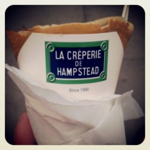 Got my last crepe of the month from the best crepe stand in the world. I hope they will not have to close because I plan to come back to Hampstead!