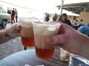 Butterbeer break at the Harry Potter Studio Tour