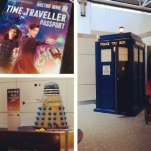 The trip to the airport was a sad one. I was not ready to leave. Seeing the TARDIS at Heathrow airport was the one upside.