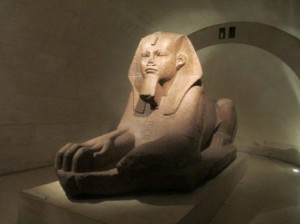 The sphinx at the Louvre in Paris, France. One of my favorite things we managed to see there.