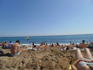 La Barcelonata Beach. The Mediterranean Sea!