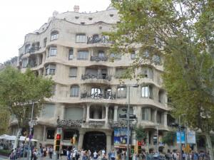 Building by Gaudi- La Pedrera (Casa Mila)