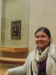 I went to the Louvre as well and saw the Mona Lisa