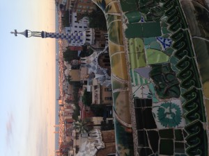 Park Guell, city view of Barcelona!