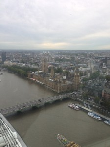 View from the London Eye and Big Ben