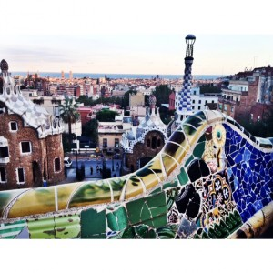 Park Guell/City view of Barcelona