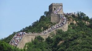 So many people walking the wall!