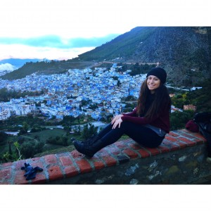 Village view from the Rif Mountains in Chefchaouen.