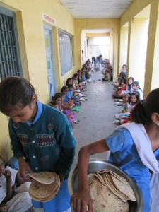 Mid-day meal at the school where I got to engage in some very good discussion with teachers