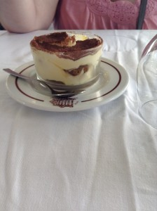 Tiramisu in a cup! so good.
