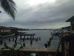 The boat launch in Bocas for the beach/dolphin tour we went on.