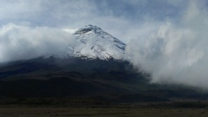 Cotopaxi through the clouds