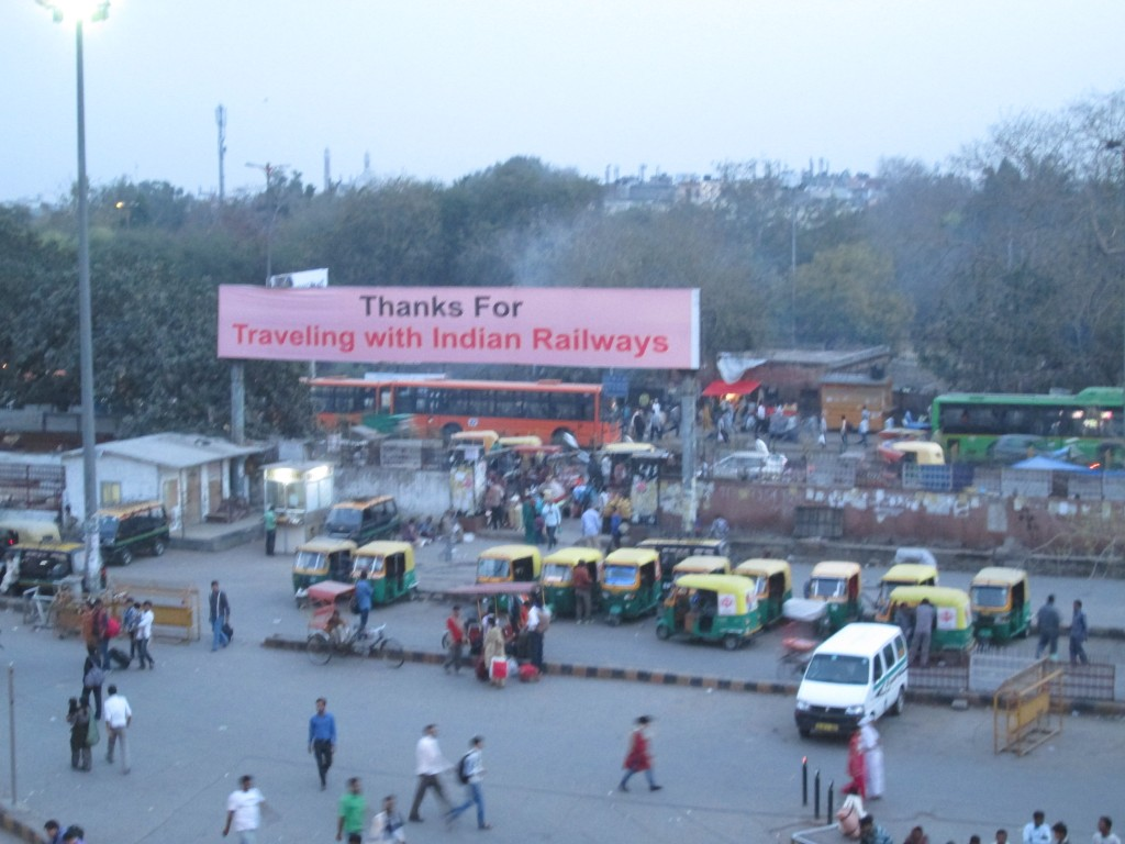 Outside the main Agra station