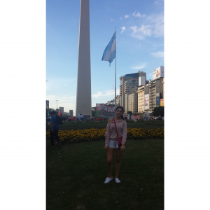 The Obelisco of the great city of Buenos Aires located at the Plaza de República.