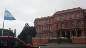 La Casa Rosada (house of government), which is the executive mansion of the president of Argentina.