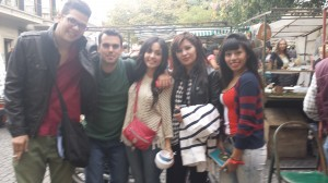This is a picture of my friends and I with some people we met along the way in San Telmo, Buenos Aires.