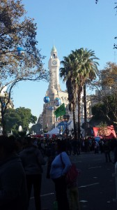 A picture from el 25 de Mayo. A huge celebration of the Revolution in la Plaza de Mayo.