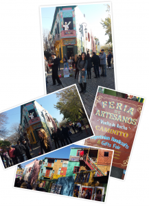 Some pictures of us in el caminito de La Boca. It was incredible being in such a colorful area.
