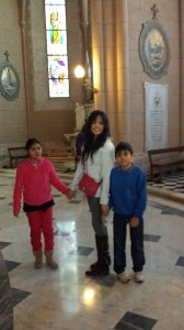 This is a picture of my supervisor's children, who were amazing to show me around la basilica.