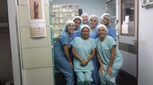 The amazing OB nurses I got to be around with this past week.