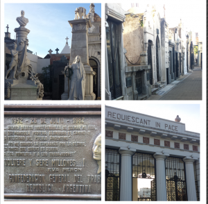 Some pictures from the Recoleta Cemetery. At the bottom right is a picture I took from Eva Peron's grave.