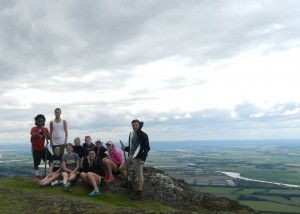 The group when we made it to the top of Dumyat