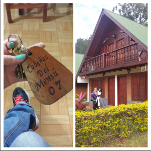 The cabin we stayed at over the weekend in Puerto Iguazu.