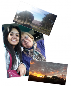 With my BAC coordinator's mother and I heading to Puerto Iguazu.