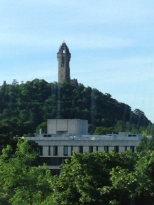 My view of the Wallace Monument from my flat.