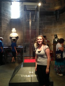 Me next to the Wallace sword (they wouldn't let me take it even though it had my name on it )